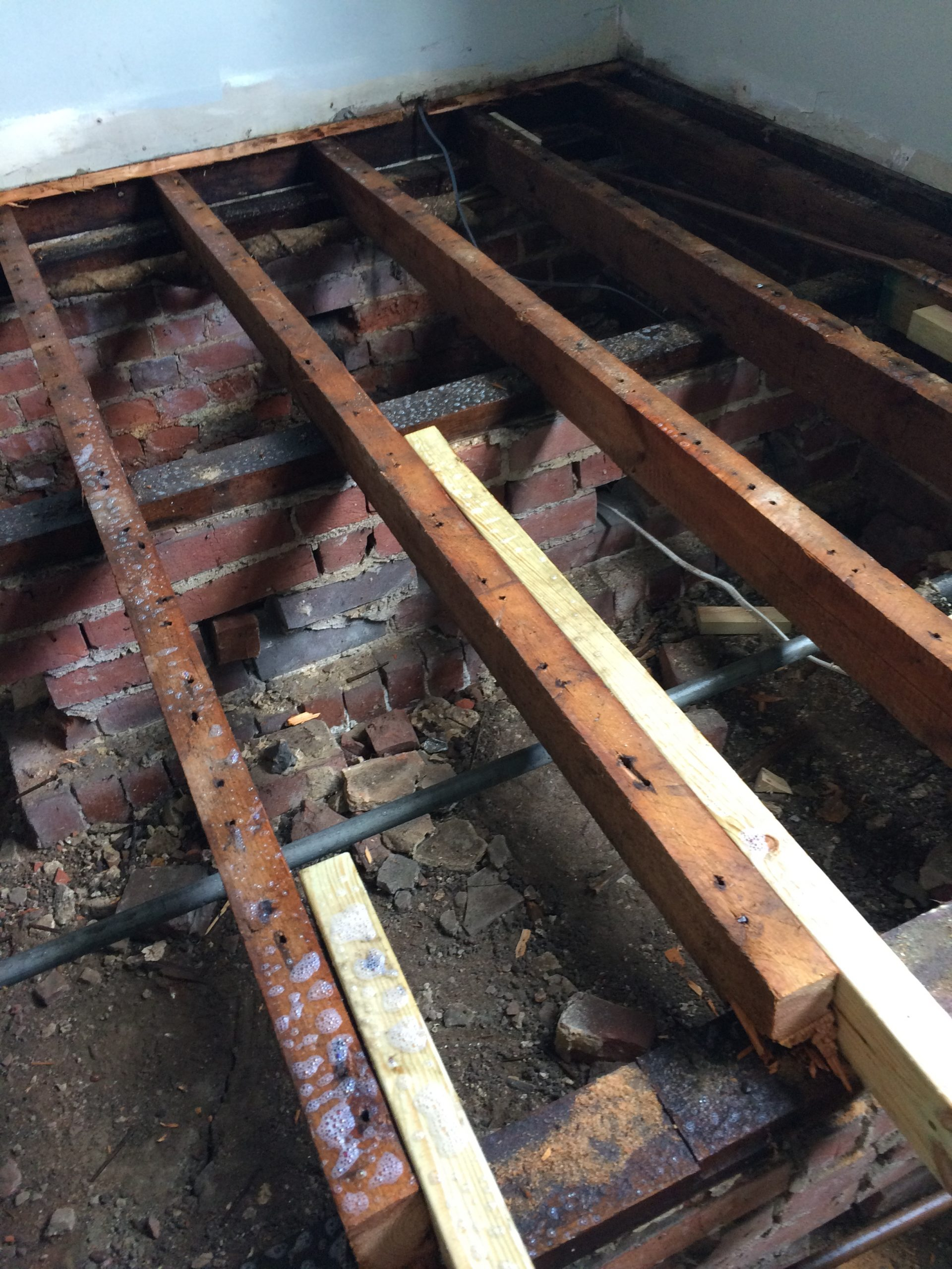new boards fitted onto joists