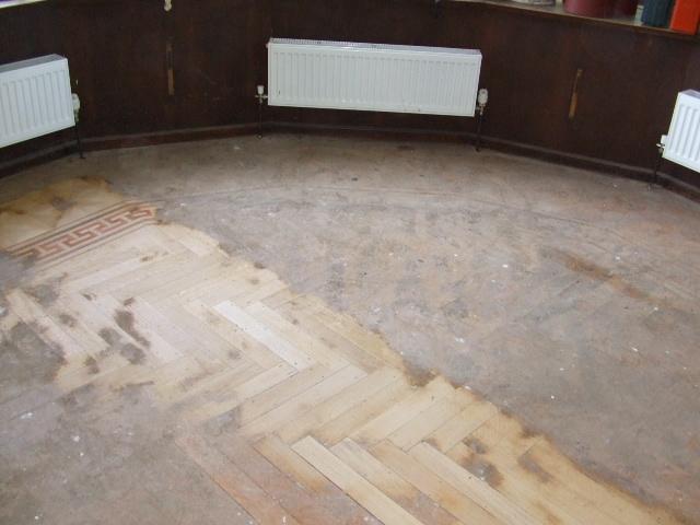 mosaic hidden flooring sanding