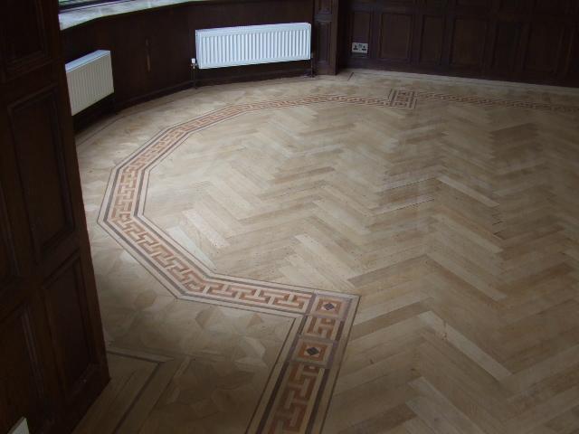 parquet border hidden flooring sanding